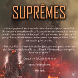 Extrait Suprêmes - Tome 1 de Elle Séveno